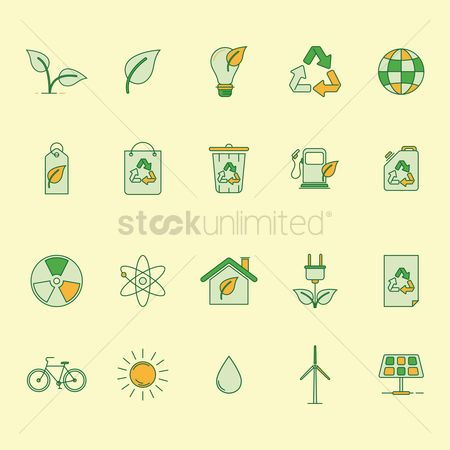 Molecules : Collection of ecology icons