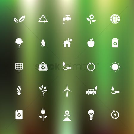 Save trees : Collection of ecology icons