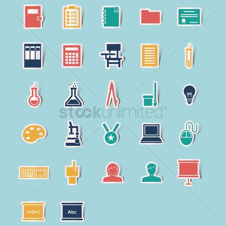 Notebooks : Collection of education icons
