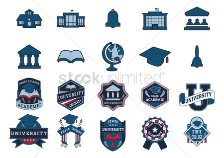 State : Collection of education icons