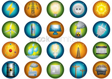 Petroleum : Collection of energy related icons