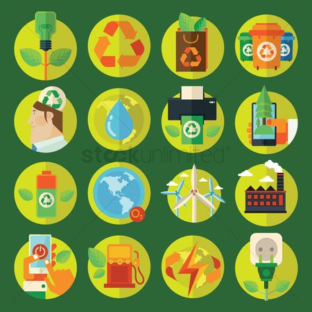 Mobiles : Collection of environment friendly icons