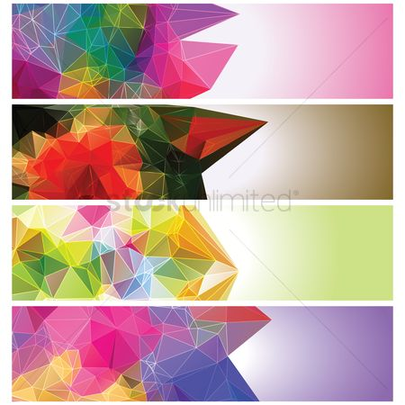 Copyspaces : Collection of faceted banners