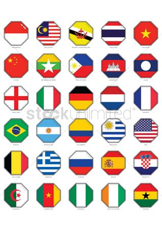 Belgium : Collection of flags symbol