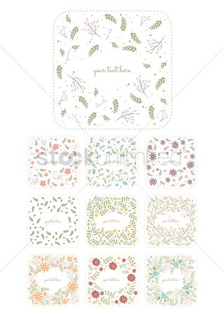 Floral : Collection of floral labels