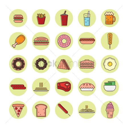 Hotcake : Collection of food icon