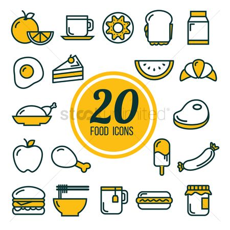 Slices : Collection of food icons