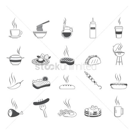 Sausage : Collection of food icons