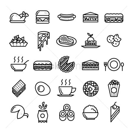 Fork : Collection of food icons