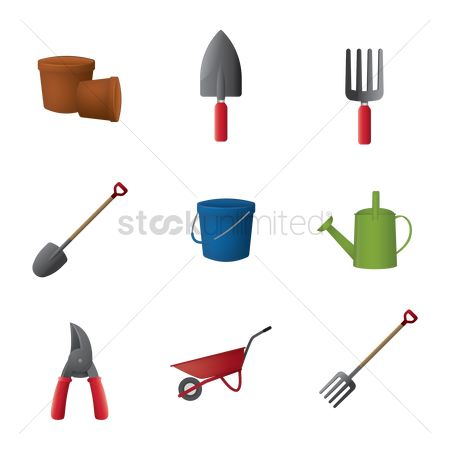 Shearing : Collection of gardening icons
