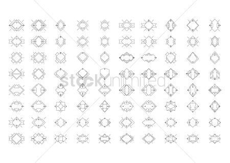 Diamonds : Collection of geometric shapes