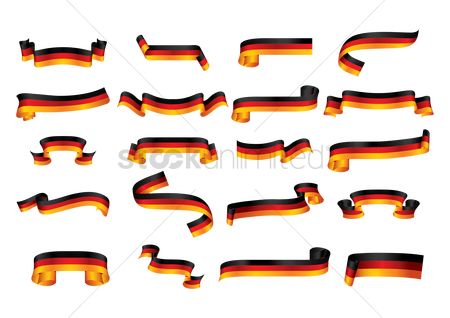 Tricolored : Collection of germany flag ribbon