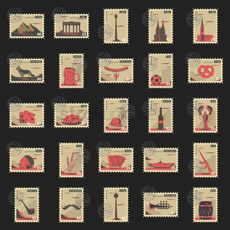 Sausage : Collection of germany postage stamps