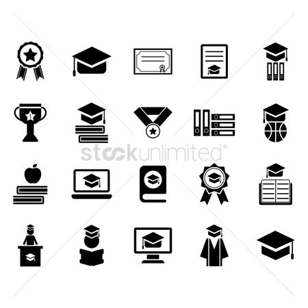 Medal : Collection of graduation icons