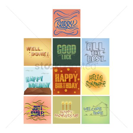 Happy summer : Collection of greeting cards