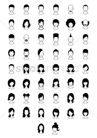 Moustache : Collection of hairstyles
