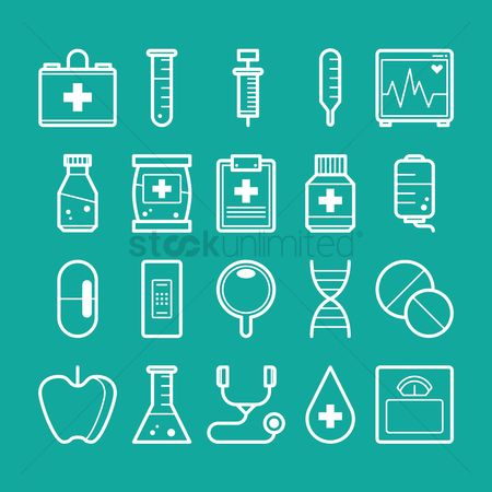 Dna : Collection of health icons