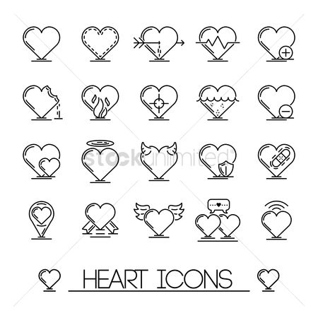 Delete : Collection of heart icons