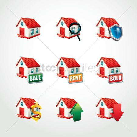 Shield : Collection of home icons