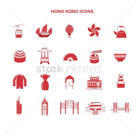 Tram : Collection of hong kong icons