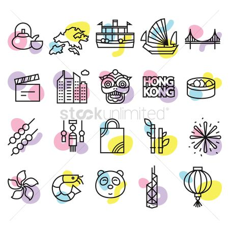 Lightweight : Collection of hong kong icons