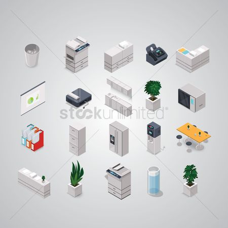 Plates : Collection of isometric objects