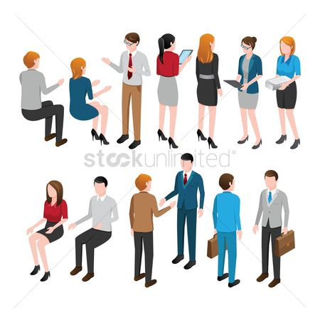 Entrepreneur : Collection of isometric people and activities