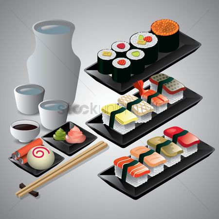 Soup : Collection of japanese food items