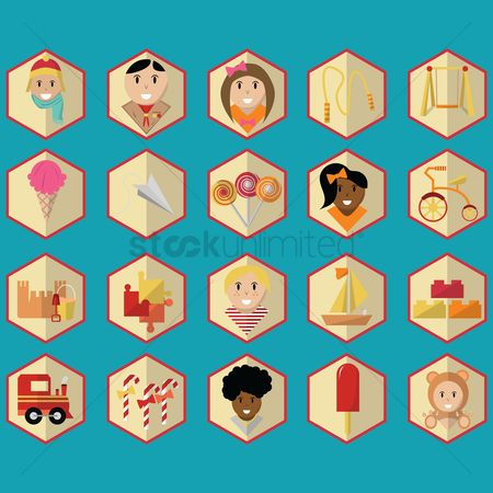 Play kids : Collection of kids icons