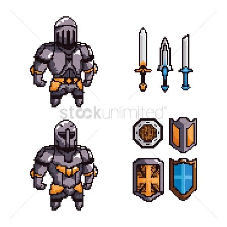 Soldiers : Collection of knights and weapons