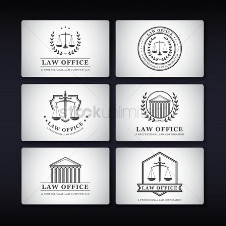 Laurel : Collection of law office name cards