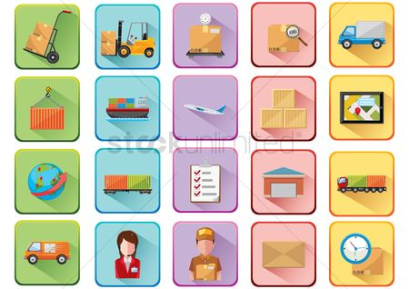 Checklists : Collection of logistics related icons