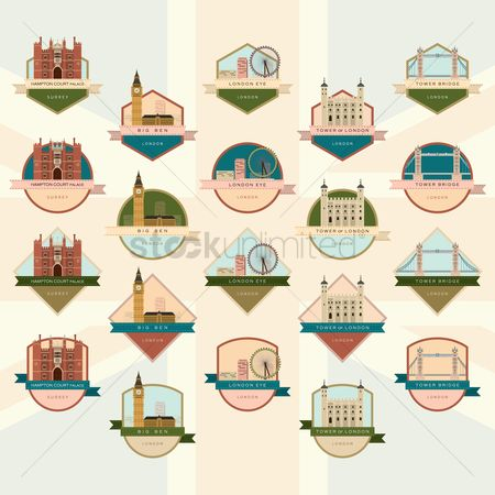 Architectures : Collection of london landmarks