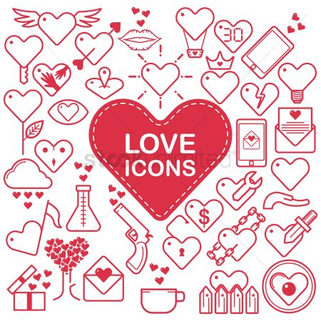 Crown : Collection of love icons
