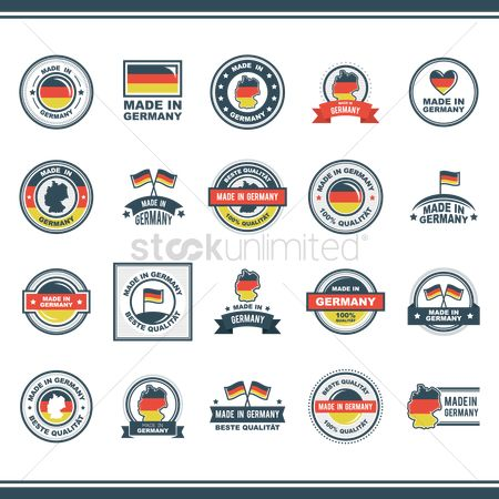 Countries : Collection of made in germany icons