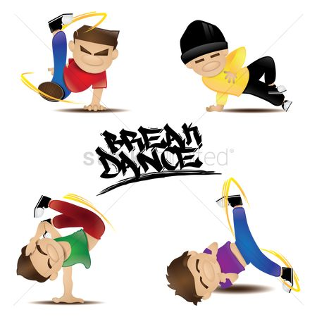 Posing : Collection of man in various dance poses