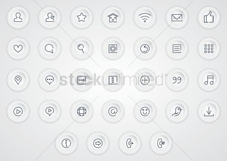 Wifi : Collection of media icons