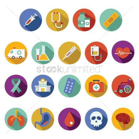 Hospital : Collection of medical icons