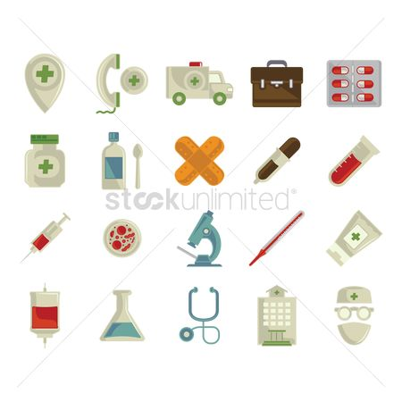 Surgeons : Collection of medical icons