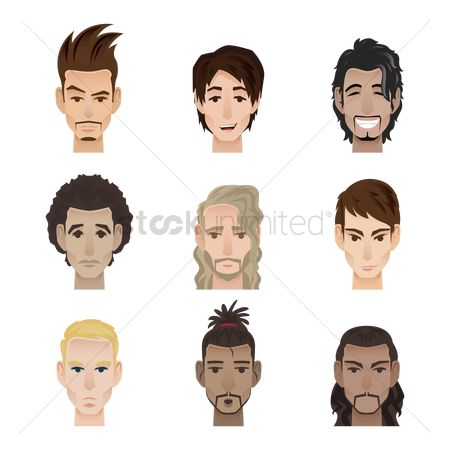Expression : Collection of men with facial expression