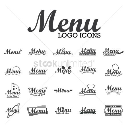 Roller : Collection of menu logo icons