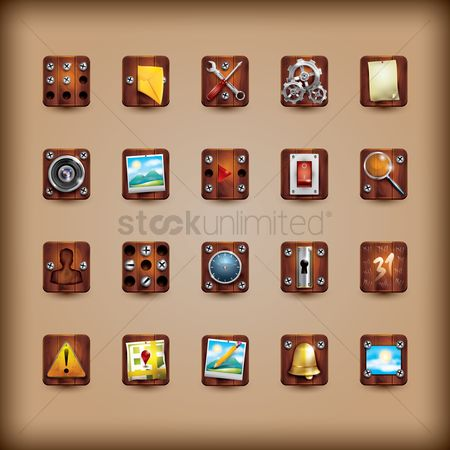 Spanner : Collection of mobile app icons