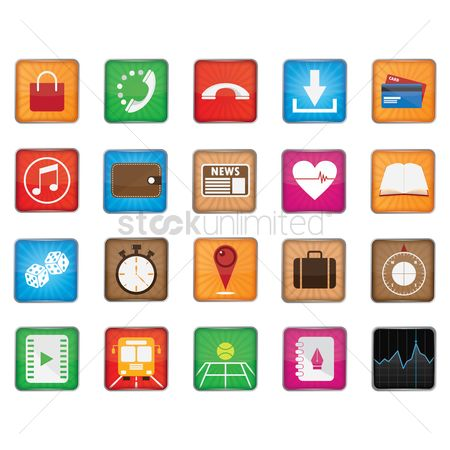 Dice : Collection of mobile app icons