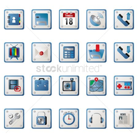 Portfolio : Collection of mobile icon