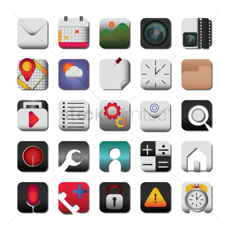 Calculations : Collection of mobile icon