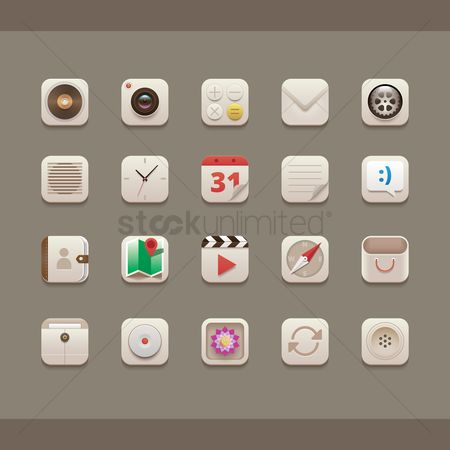 Setting : Collection of mobile icons