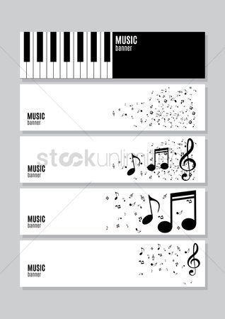 Musicals : Collection of music banners