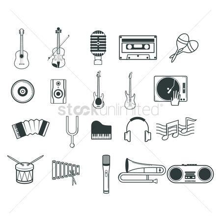 Musicals : Collection of musical instruments
