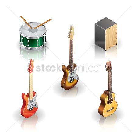 Drums : Collection of musical instruments