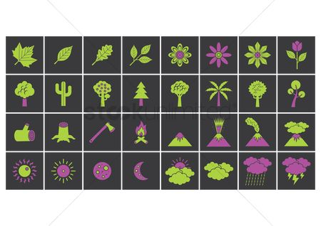 Logs : Collection of nature icons